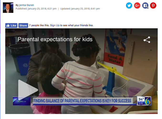 Photo of webpage featuring WLNS